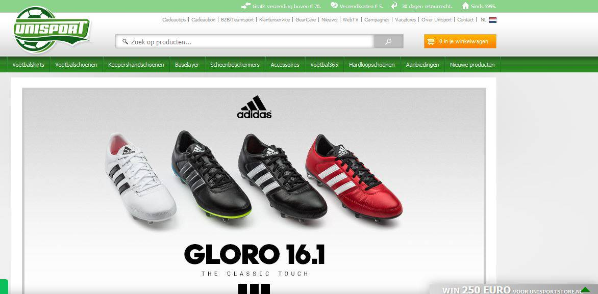 Unisport store online sportkleding bestellen