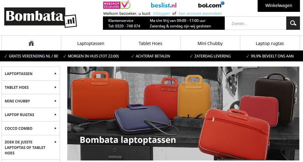 Homepage bombata.nl