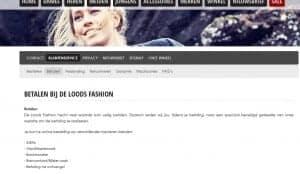 De loods Fashion achteraf betalen