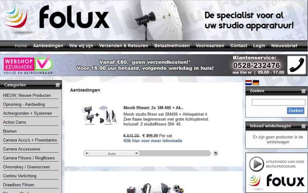 Folux homepage