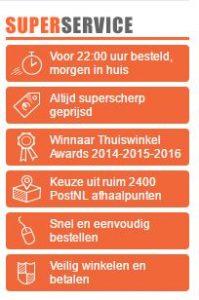 Superservice van superwinkel.nl achteraf betalen