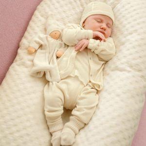 Basis babykleding-uitzet bio-katoen, natuur 44