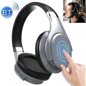 Draadloze koptelefoon met microfoon zilver B21