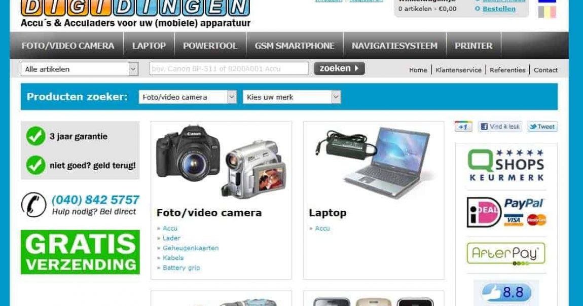 Digi Dingen homepage