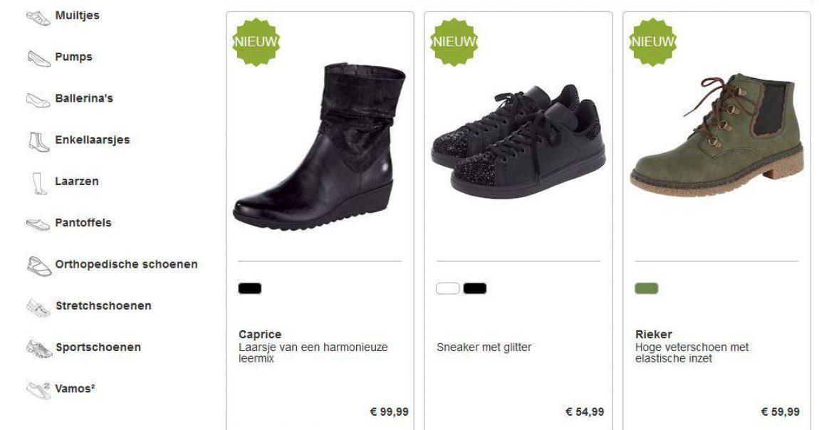 Leuke model iconen bij Vamos schoenen