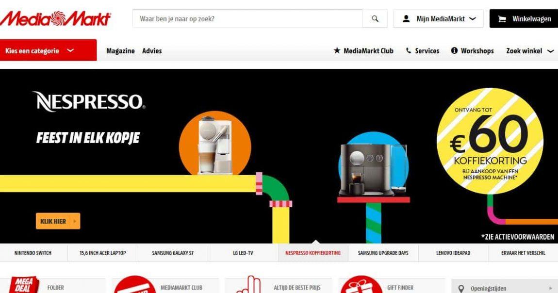 Mediamarkt.nl homepage